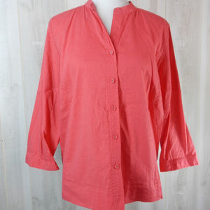 Eileen Fisher Coral Linen Viscose Jacket